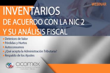 Inventarios de acuerdo con la NIC2 y su análisis fiscal